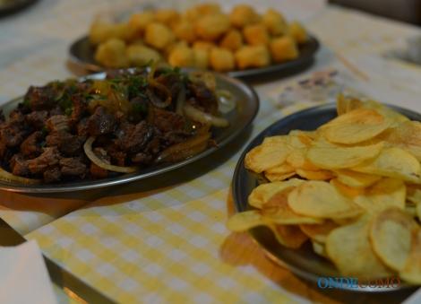 Filet à palito e batata portuguesa