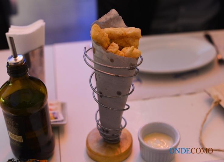 Iscas de peixe frito