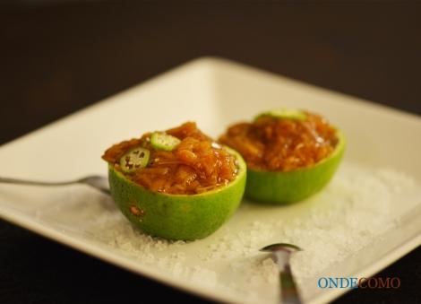 Nametake - microcogumelos japoneses servidos no limão