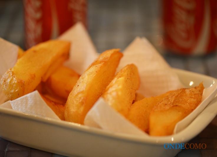 Batatas fritas com tempero do armazém