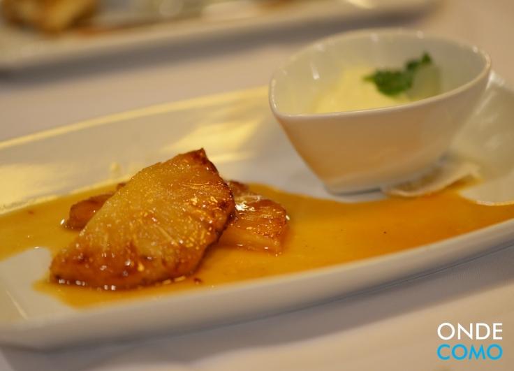 Sorbet de margarita com abacaxi grelhado