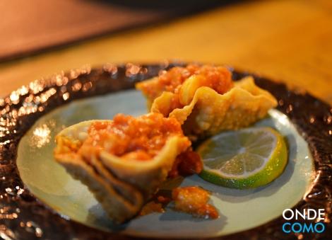 Pastel de camarão